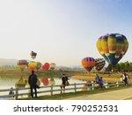 international balloon festival... | Shutterstock . vector #790252531