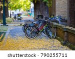 blurred image a bicycles... | Shutterstock . vector #790255711