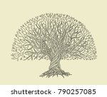 big tree with roots for your... | Shutterstock .eps vector #790257085