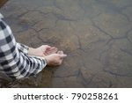 asian man on nature  crisis of... | Shutterstock . vector #790258261