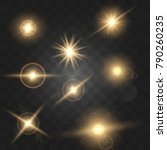 set shining star particles and...   Shutterstock .eps vector #790260235