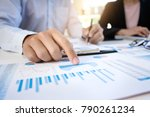 business man analysis data... | Shutterstock . vector #790261234