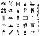 disabled icons set. simple set... | Shutterstock .eps vector #790262044