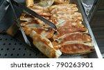 pot stickers gyoza  chinese...   Shutterstock . vector #790263901
