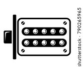 push button lock icon. simple... | Shutterstock .eps vector #790265965