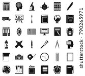 pupil icons set. simple style... | Shutterstock .eps vector #790265971