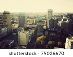Aerial downtown of Memphis, Tennessee, USA, North America. - stock photo