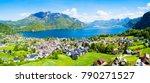 st. gilgen and wolfgangsee lake ...   Shutterstock . vector #790271527