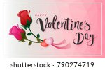 happy valentine's day... | Shutterstock .eps vector #790274719