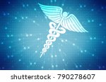 medical abstract background | Shutterstock . vector #790278607