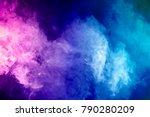 blue  pink  purple vape smoke... | Shutterstock . vector #790280209
