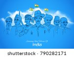 illustration of tricolor india... | Shutterstock .eps vector #790282171