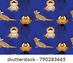 lizard dragon cartoon seamless...   Shutterstock .eps vector #790283665