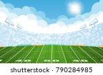 american football arena field... | Shutterstock .eps vector #790284985