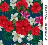 illustration of floral seamless ... | Shutterstock .eps vector #790285465
