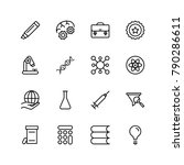 science icon set. collection of ... | Shutterstock .eps vector #790286611
