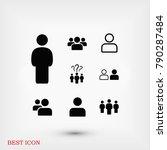 people icon  stock vector... | Shutterstock .eps vector #790287484