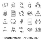 simple collection of head... | Shutterstock .eps vector #790287607