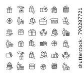 modern outline style gift icons ... | Shutterstock .eps vector #790287721