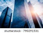 modern office building against... | Shutterstock . vector #790291531