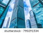 modern office building against... | Shutterstock . vector #790291534