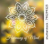 hand drawn mandala design... | Shutterstock .eps vector #790299325