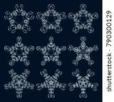 calligraphic round ornament... | Shutterstock .eps vector #790300129