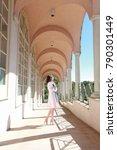 young beautiful woman in... | Shutterstock . vector #790301449