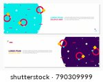abstract memphis style banners... | Shutterstock .eps vector #790309999