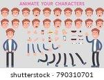 flat vector guy character for...   Shutterstock .eps vector #790310701