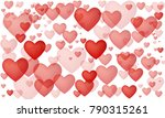 love red hearts | Shutterstock .eps vector #790315261