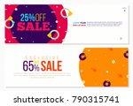 vintage fashion memphis banners ... | Shutterstock .eps vector #790315741