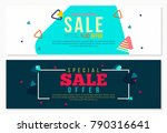 memphis style futuristic banner ... | Shutterstock .eps vector #790316641
