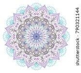vector indian ornament mandala | Shutterstock .eps vector #790321144