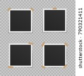 set of blank photo frames with... | Shutterstock .eps vector #790321411