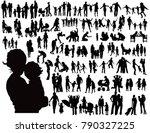 family vector silhouettes | Shutterstock .eps vector #790327225
