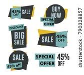 sale label set vector template... | Shutterstock .eps vector #790328857