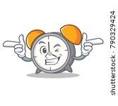 wink alarm clock character... | Shutterstock .eps vector #790329424