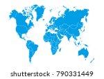 world map vector | Shutterstock .eps vector #790331449