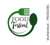 food festival logo vector... | Shutterstock .eps vector #790331581