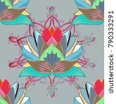 seamless floral pattern in... | Shutterstock .eps vector #790333291