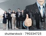 business showing thumbs up and... | Shutterstock . vector #790334725