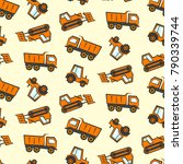 cute kids seamless pattern with ... | Shutterstock .eps vector #790339744