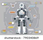 artificial intelligence robot... | Shutterstock .eps vector #790340869