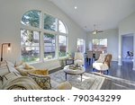 sun filled family room in soft... | Shutterstock . vector #790343299