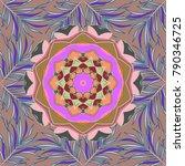 outline. vector doodle seamless ... | Shutterstock .eps vector #790346725