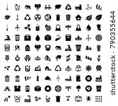 environment icons. set of 100... | Shutterstock .eps vector #790355644