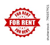 for rent grunge rubber stamp.... | Shutterstock .eps vector #790357921