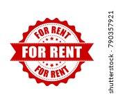 for rent grunge rubber stamp.... | Shutterstock .eps vector #790357921