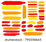 collection of hand drawn golden ... | Shutterstock .eps vector #790358665
